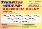 Warszawa Kierunek Kazimierz Dolny Naleczow